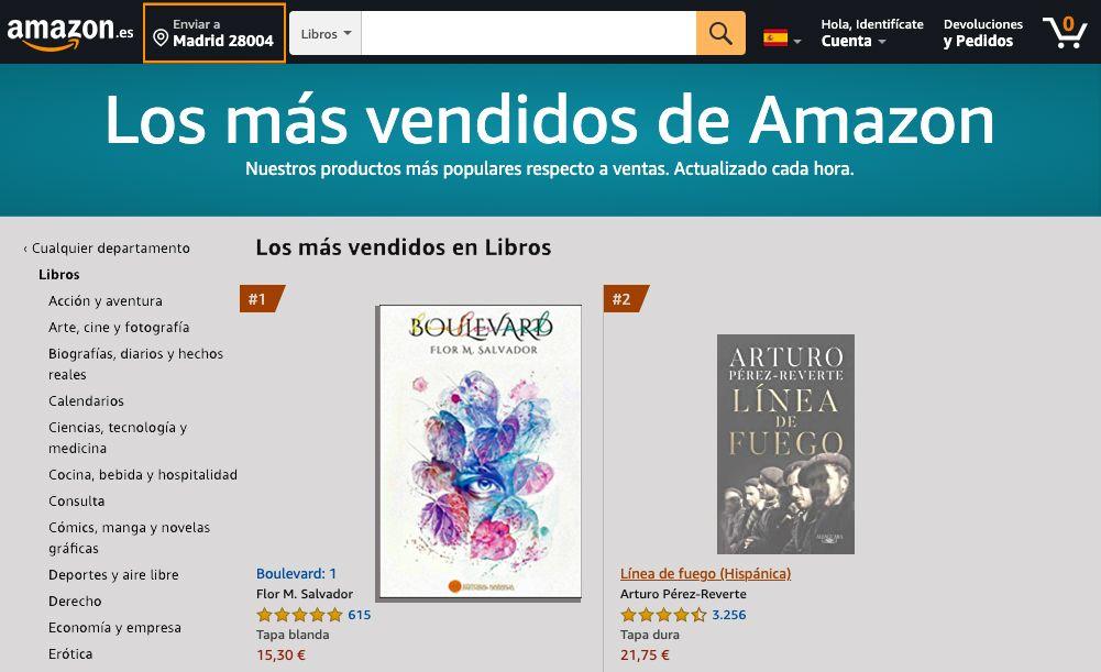 Foto de Boulevard. El libro más vendido de Amazon sin stock