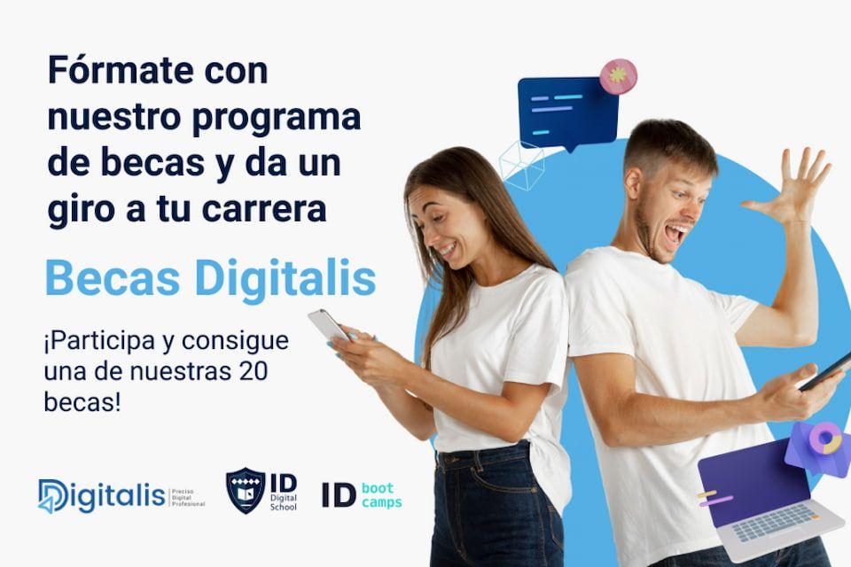Foto de ID Digital School y Digitalis ofrecen 20 becas para apoyar la